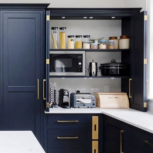 navy blue shaker kitchen cabinets - Storage