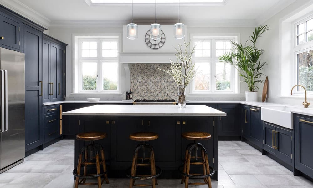 Navy Shaker Kitchen