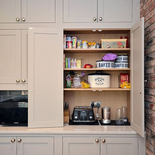 Open plan kitchen storage ideas