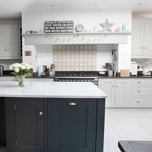 modern grey shaker kitchen