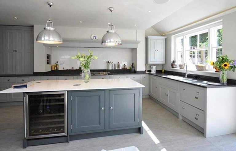 lamp room gray kitchen