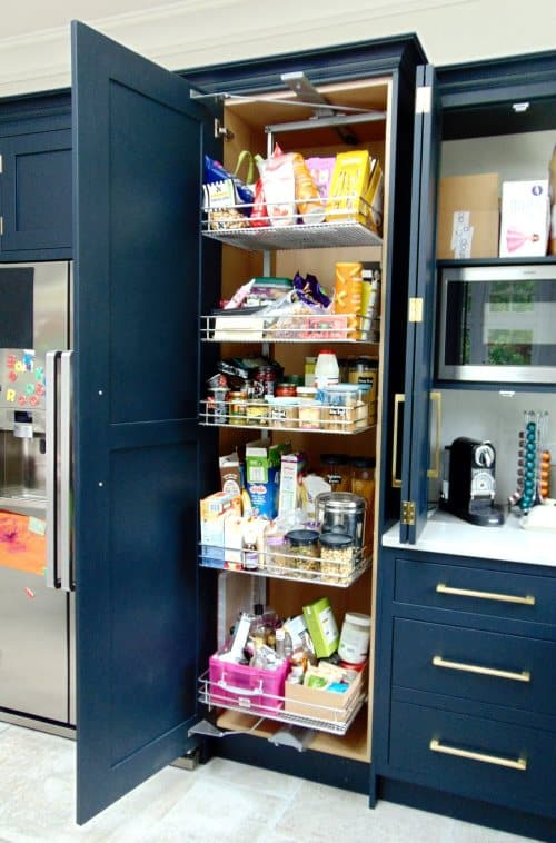 Black Blue Kitchen Pull Out Larder Storage